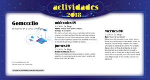 Gomecello Noches de Cultura Julio 2018