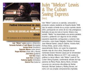 Escuelas Menores Iván Melón Lewis & The Cuban Swing Express Plazas y Patios Salamanca Julio 2018