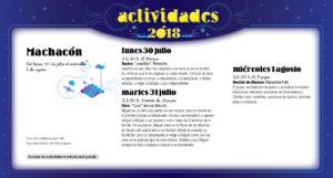 Machacón Noches de Cultura Julio agosto 2018