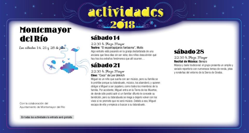 Montemayor del Río Noches de Cultura Julio 2018