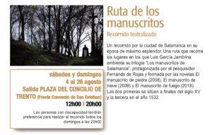 Plaza del Concilio de Trento Ruta de los Manuscritos Plazas y Patios Salamanca Agosto 2018
