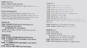 Salamanca Semana Cultural y Fiestas Capuchinos Julio 2018
