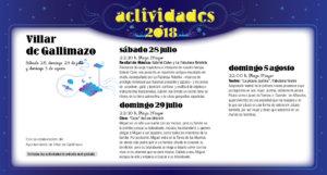 Villar de Gallimazo Noches de Cultura Julio agosto 2018