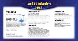 Villoria Noches de Cultura Julio 2018