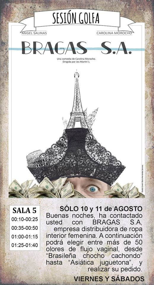 La Malhablada Bragas S.A. Sesión Golfa Salamanca Agosto 2018