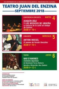 Aula Teatro Juan del Enzina La SEMYR Salamanca Septiembre 2018