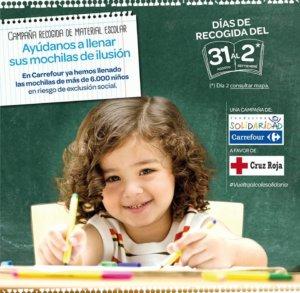 Carrefour Campaña de Recogida de Material Escolar Salamanca Agosto septiembre 2018