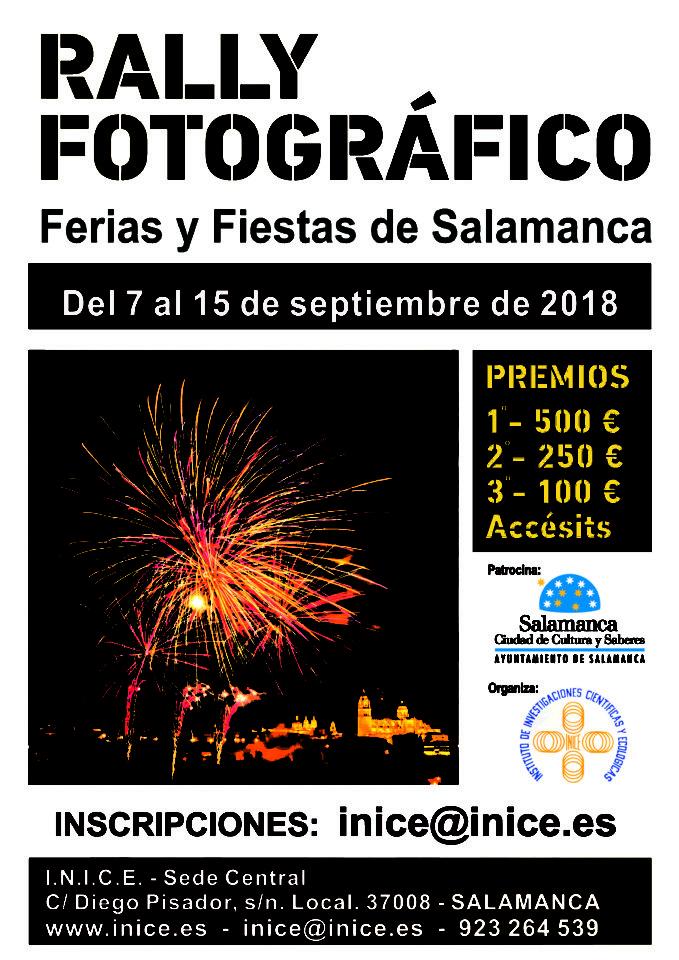 Ferias y Fiestas 2018 Rally Fotográfico INICE Salamanca Septiembre