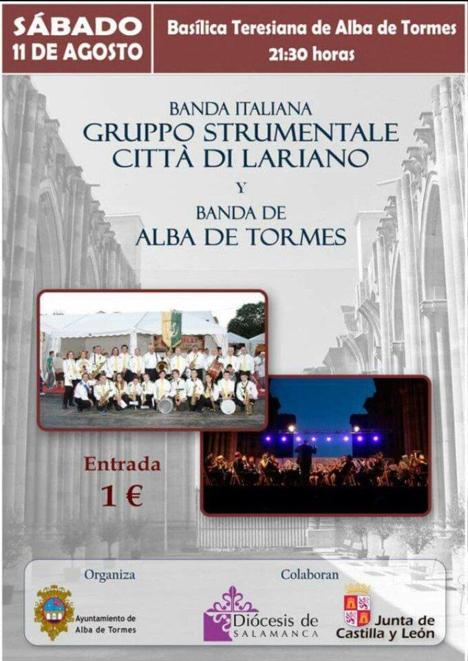 Alba de Tormes Gruppo Strumentale Città di Lariano + Banda de Música Alba de Tormes Agosto 2018
