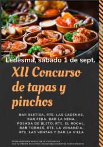 Ledesma XII Concurso de Tapas y Pinchos Septiembre 2018