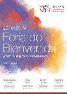Feria de Bienvenida 2018-2019 Universidad de Salamanca Septiembre 2018