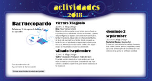 Barruecopardo Noches de Cultura Agosto septiembre 2018