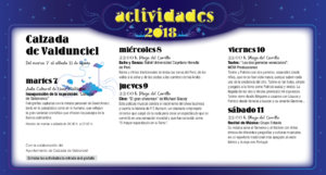 Calzada de Valdunciel Noches de Cultura Agosto 2018