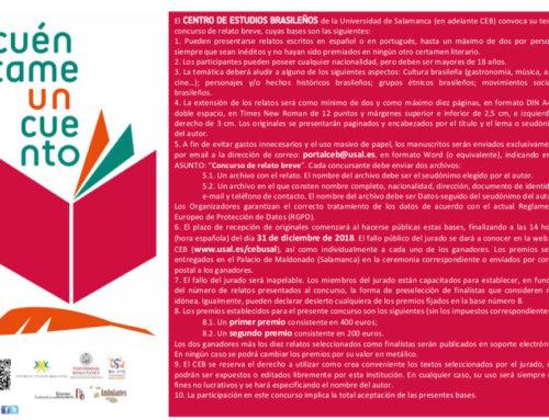 ¿Le cuentas un cuento al Centro de Estudios Brasileños?