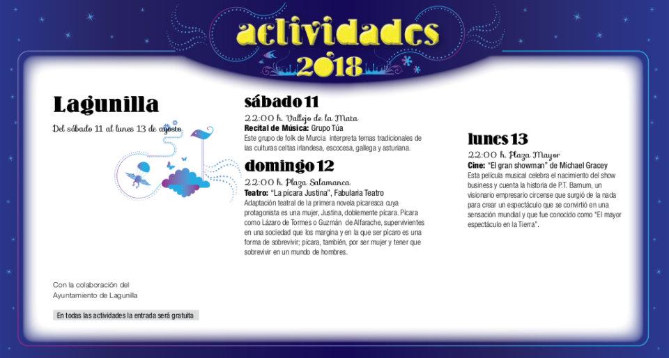 Lagunilla Noches de Cultura Agosto 2018