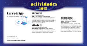 Larrodrigo Noches de Cultura Agosto 2018