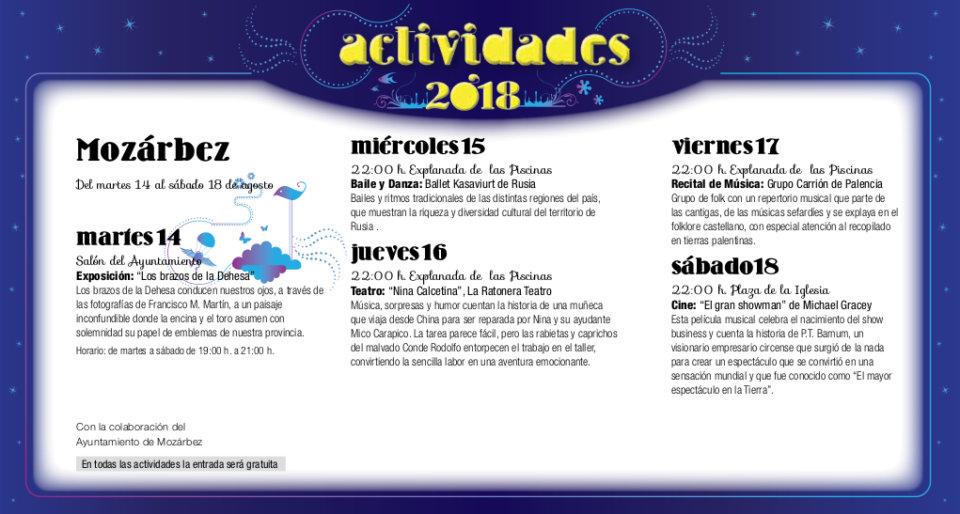 Mozárbez Noches de Cultura Agosto 2018