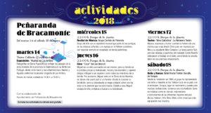 Peñaranda de Bracamonte Noches de Cultura Agosto 2018