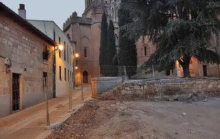 ¿Qué esconde la Plaza de los Leones bajo las obras del nuevo ajardinado?