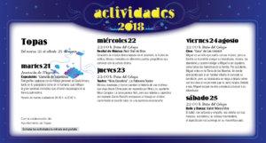Topas Noches de Cultura Agosto 2018