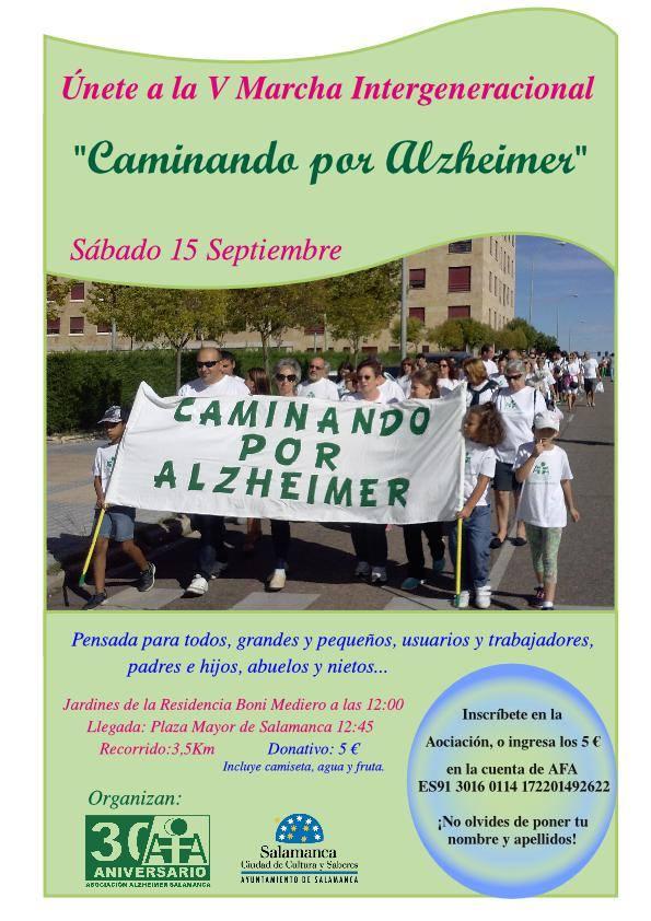 Ferias y Fiestas 2018 Caminando por Alzheimer Salamanca Septiembre