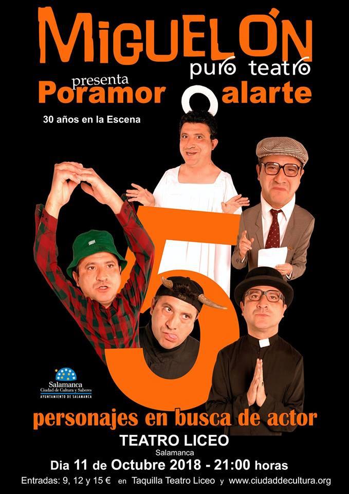Teatro Liceo Poramor alarte Salamanca Octubre 2018