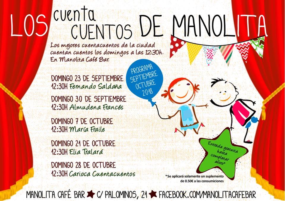 Manolita Café Bar Los cuentacuentos de Manolita Salamanca Septiembre octubre 2018