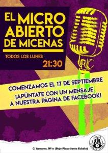 Sala Micenas Adarsa El micro abierto de Micenas Salamanca 2018-2019