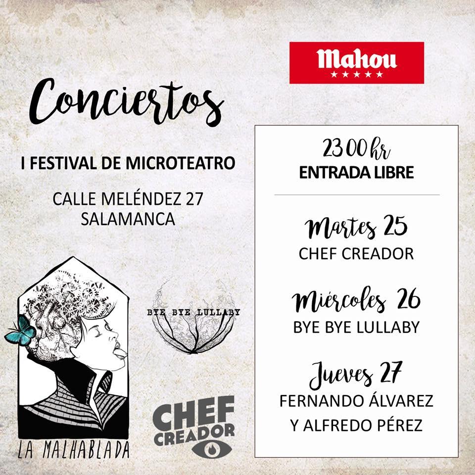 La Malhablada Conciertos I Festival de Microteatro Salamanca Septiembre 2018