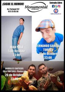 Pub Monumental Humor y magia Salamanca Octubre 2018