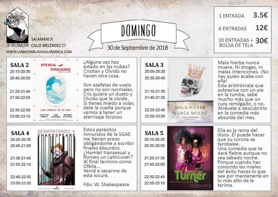 La Malhablada I Festival de Microteatro 30 de septiembre de 2018 Salamanca