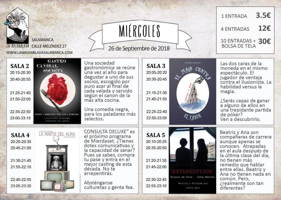 La Malhablada I Festival de Microteatro 26 de septiembre de 2018 Salamanca
