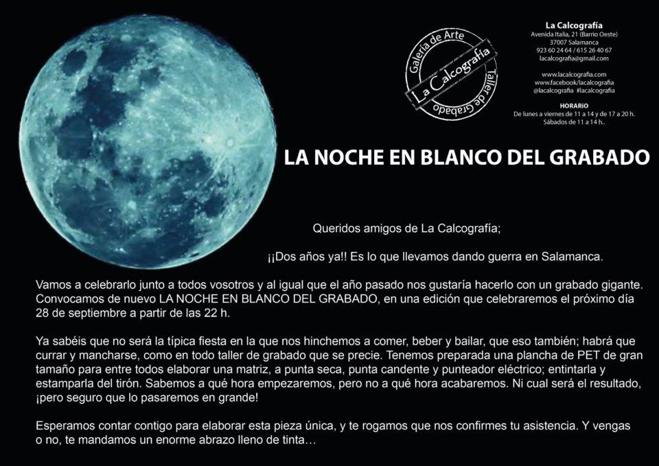 La Calcografía La noche en blanco del grabado Salamanca Septiembre 2018