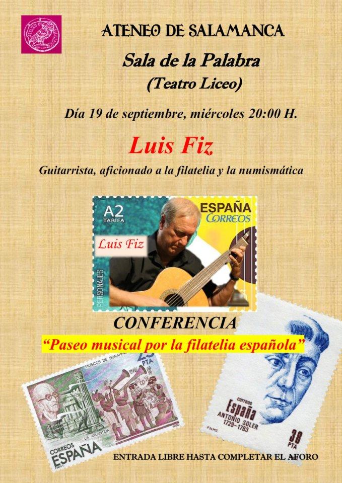 Teatro Liceo Paseo musical por la filatelia española Ateneo de Salamanca Septiembre 2018
