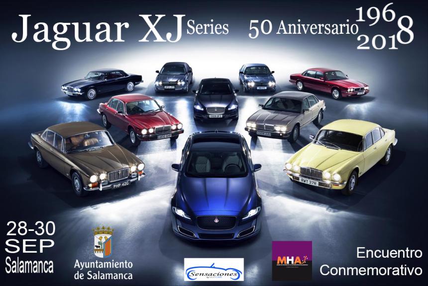Museo de Historia de la Automoción de Salamanca MHAS Encuentro Conmemorativo 50 Aniversario Jaguar XJ Series Septiembre 2018