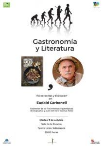 Teatro Liceo Eduald Carbonell Ciclo Gastronomía y Literatura Salamanca Octubre 2018