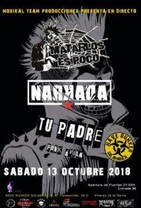 Nave Bunker Matarlos es Poco + Narkada + Tu Padre Villares de la Reina Octubre 2018