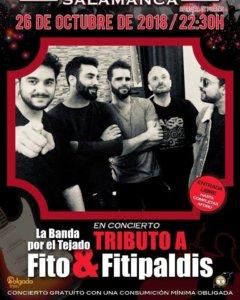 Sala Torero La Banda por el Tejado Salamanca Octubre 2018