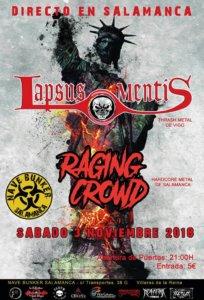 Nave Bunker Lapsus Mentis + Raging Crowd Salamanca Noviembre 2018