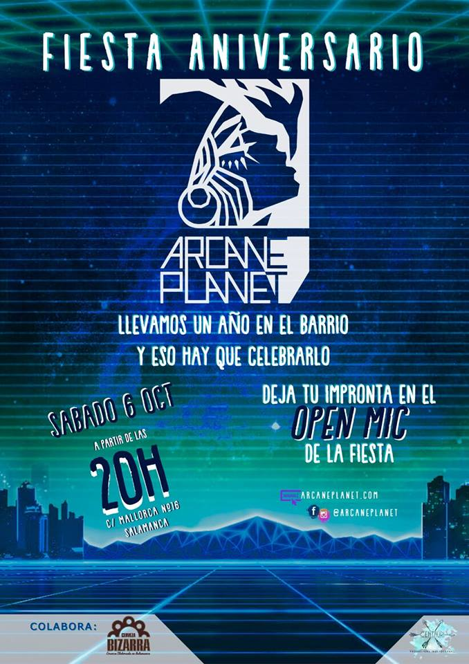 Arcane Planet Studios Fiesta Aniversario Salamanca Octubre 2018