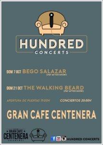 Centenera Hundred Concerts Salamanca Octubre 2018
