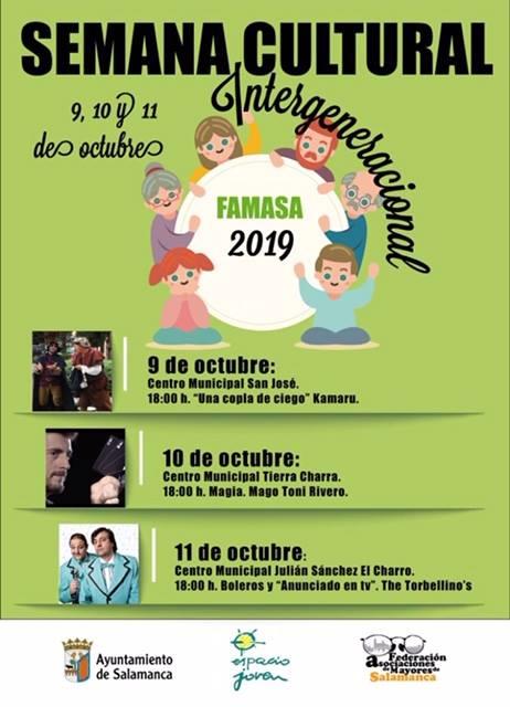 Salamanca Semana Cultural Intergeneracional Octubre 2018