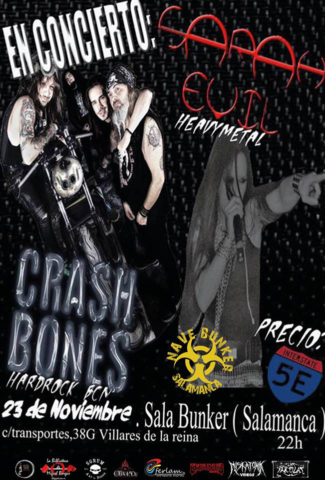 Nave Bunker Crash Bones + Sarah Evil Salamanca Noviembre 2018