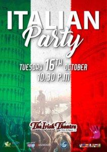 The Irish Theatre Italian Party Salamanca Octubre 2018