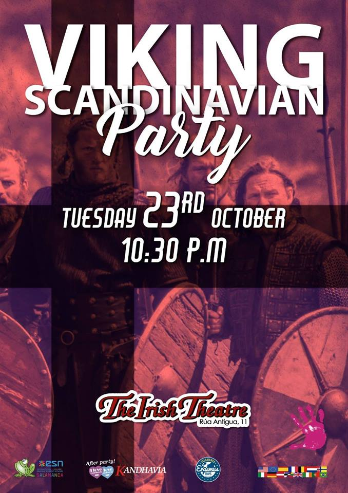 The Irish Theatre Viking Scandinavian Party Salamanca Octubre 2018