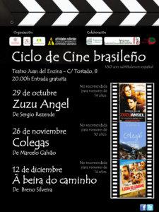 Aula Teatro Juan del Enzina Ciclo de Cine Brasileño Centro de Estudios Brasileños Salamanca Octubre noviembre diciembre 2018