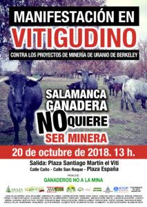 Vitigudino Manifestación Salamanca ganadera no quiere ser minera Octubre 2018