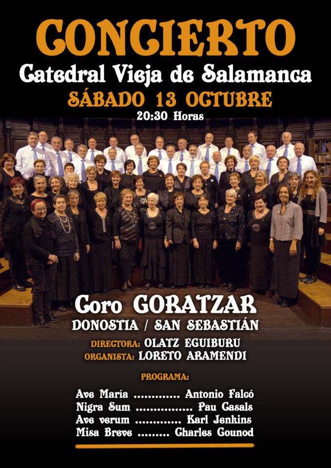 Catedral Vieja Coro Goratzar Salamanca Octubre 2018