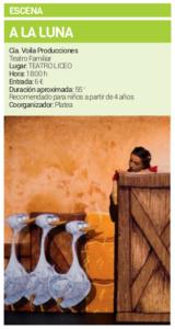 Teatro Liceo Voila Producciones A la Luna Salamanca Octubre 2018