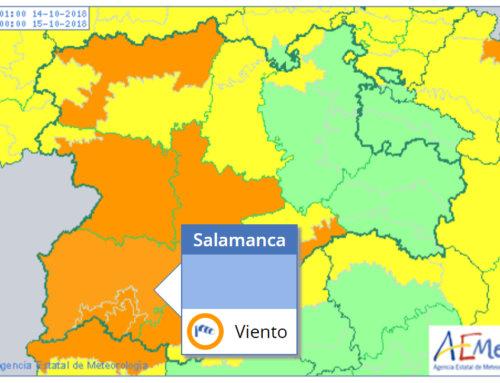 Este domingo, 14 de octubre, el viento pone en alerta meteorológica naranja a Salamanca.